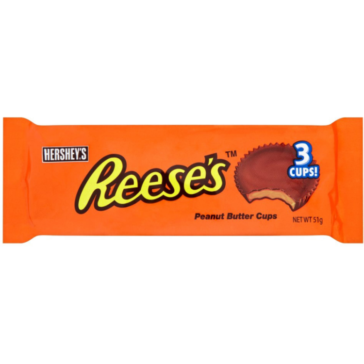 Hershey Reeses 3 Peanut Butter Cups 40x 51g