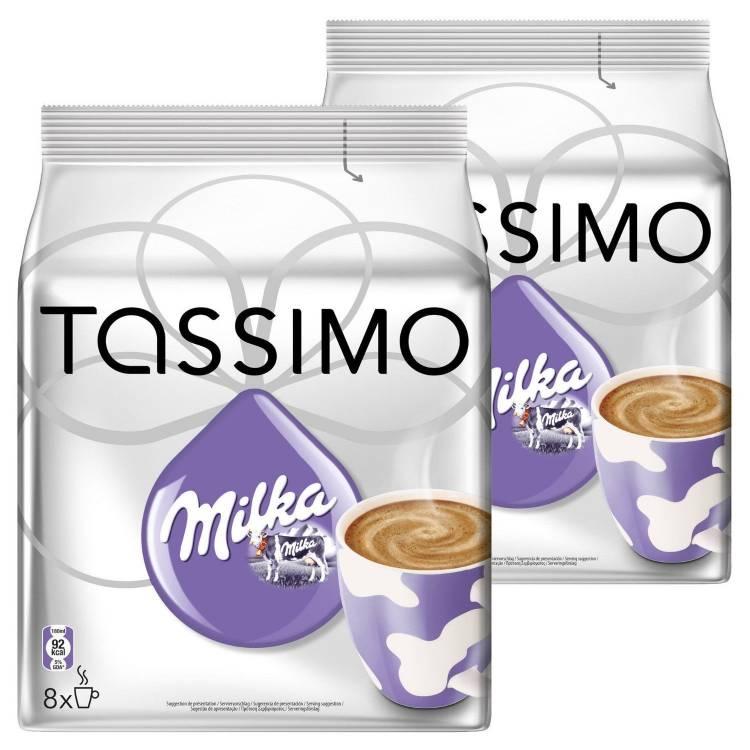 2 X Packs Of Tassimo Milka Hot Chocolate Pods Capsules 8 T