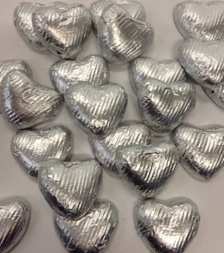 50 Silver Foiled Wrap Solid Milk Chocolate