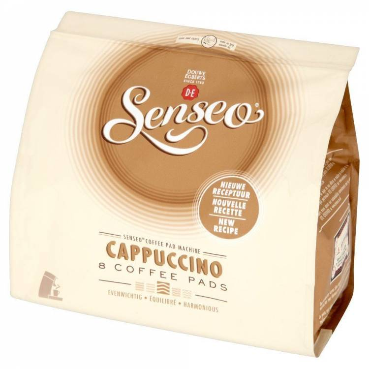 8 x douwe egberts senseo coffee pods pads cappuccino. Black Bedroom Furniture Sets. Home Design Ideas