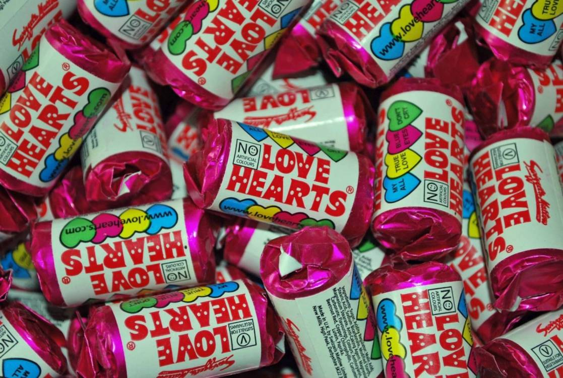 Mini Love Hearts 100 Rolls Retro Swizzels Wedding Favour Valentines Sweets