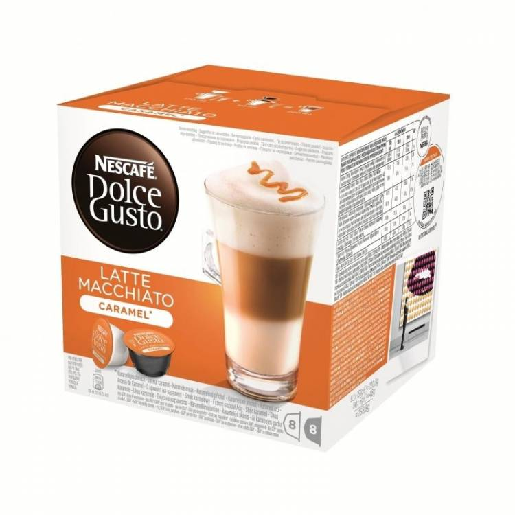 nescaf dolce gusto caramel latte macchiato 16 capsules 8 servings. Black Bedroom Furniture Sets. Home Design Ideas