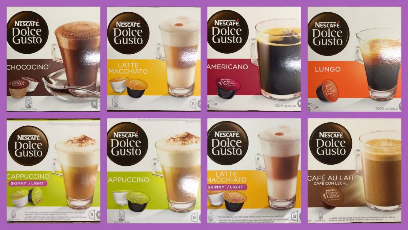 Nescafe dolce gusto coffee capsules 3 boxes of 16 pods - Range capsule dolce gusto ...