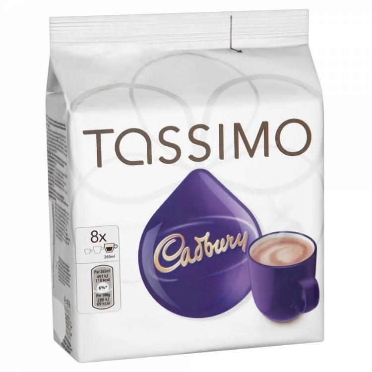 Tassimo Cadbury Hot Chocolate Pods Capsules 8 T Discs 8