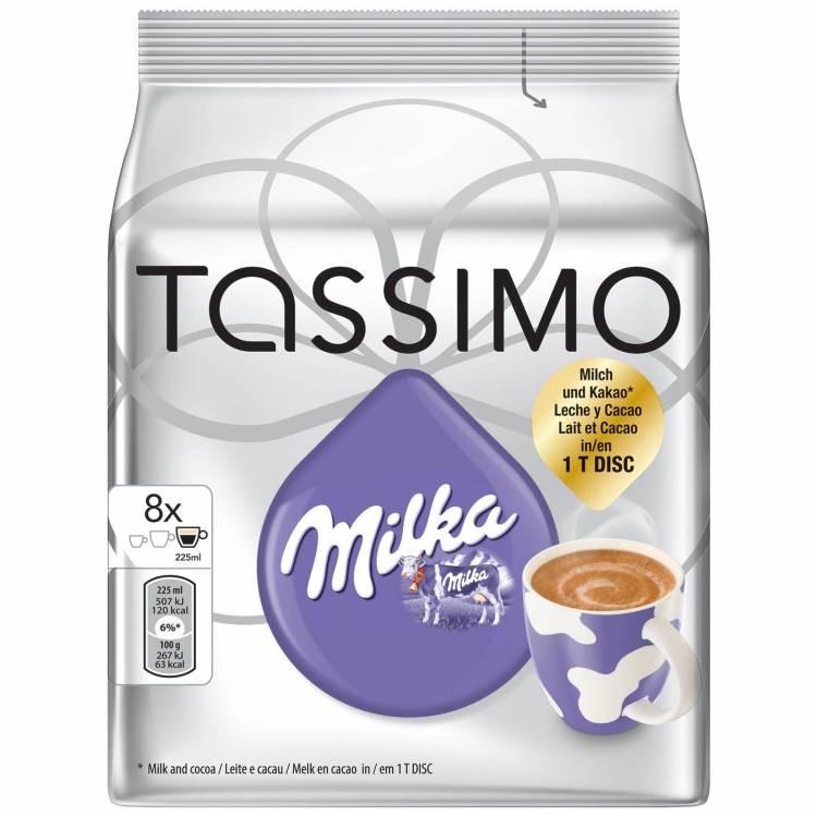 Tassimo Milka Hot Chocolate Pods Capsules 8 T Discs 8